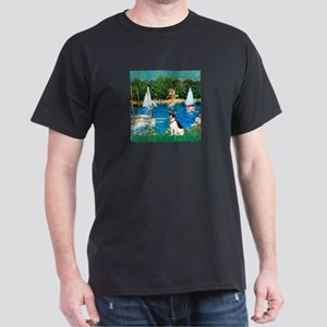 Sailboats / Rat Terrier Dark T-Shirt