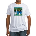 Sailboats / Rat Terrier Fitted T-Shirt