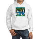Sailboats / Rat Terrier Hooded Sweatshirt