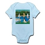 Sailboats / Rat Terrier Infant Bodysuit