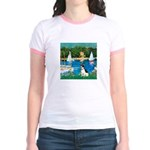 Sailboats / Rat Terrier Jr. Ringer T-Shirt