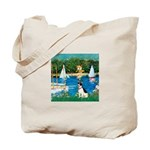 Sailboats / Rat Terrier Tote Bag
