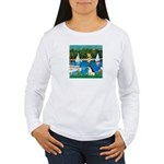Sailboats / Rat Terrier Women's Long Sleeve T-Shir