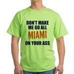 Miami Football Green T-Shirt