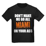 Miami Football Kids Dark T-Shirt
