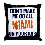 Miami Football Throw Pillow