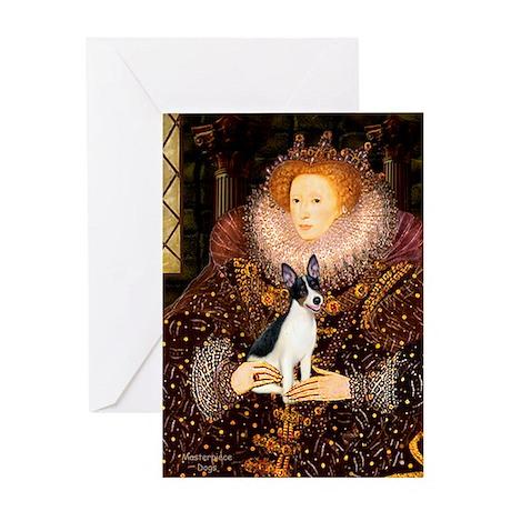 Queen / Rat Terrier Greeting Card