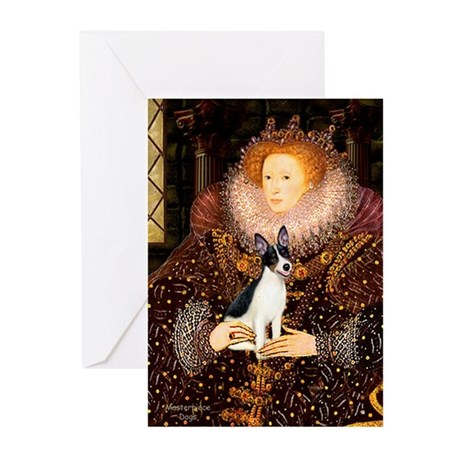 Queen / Rat Terrier Greeting Cards (Pk of 10)