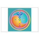 Sacred Centres Turquoise Variation Large Poster