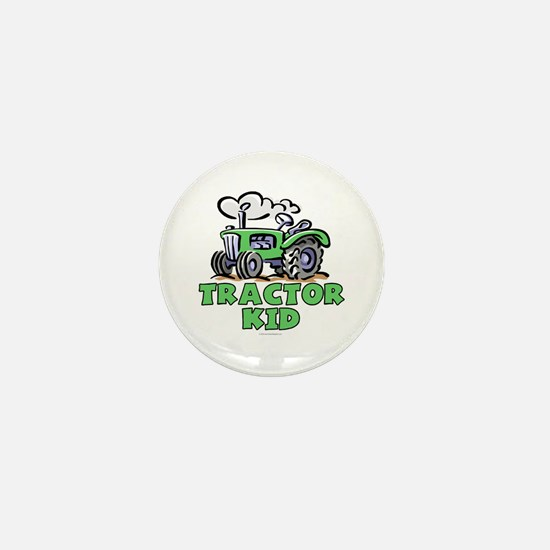 Green Tractor Kid Mini Button