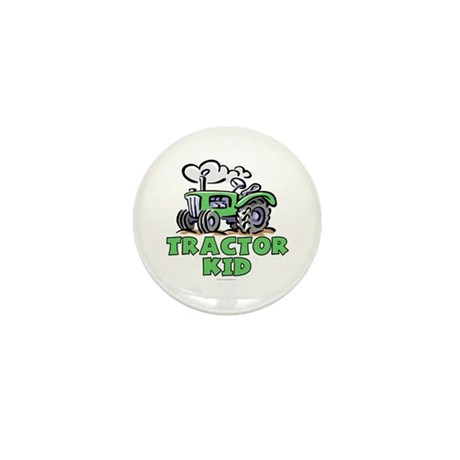 Green Tractor Kid Mini Button (100 pack)