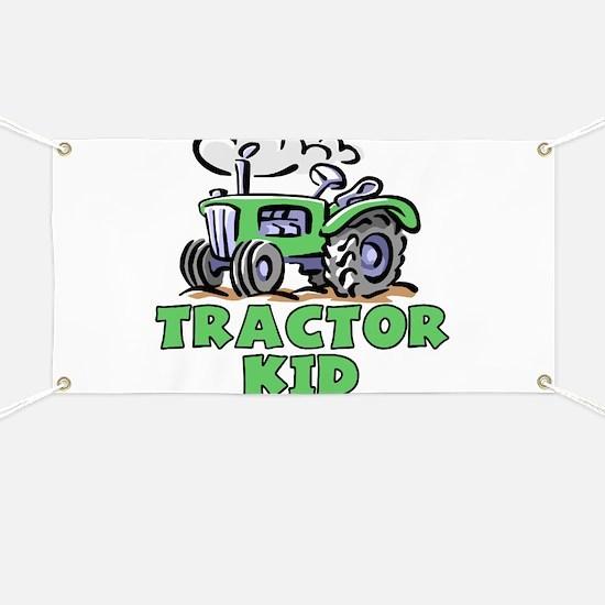 Green Tractor Kid Banner