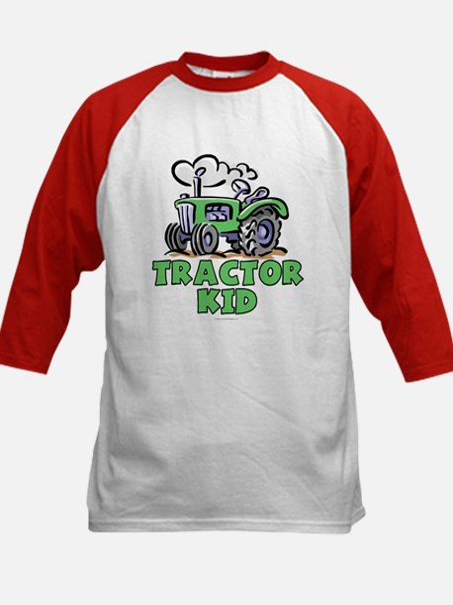 Green Tractor Kid Kids Baseball Jersey