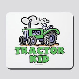 Green Tractor Kid Mousepad