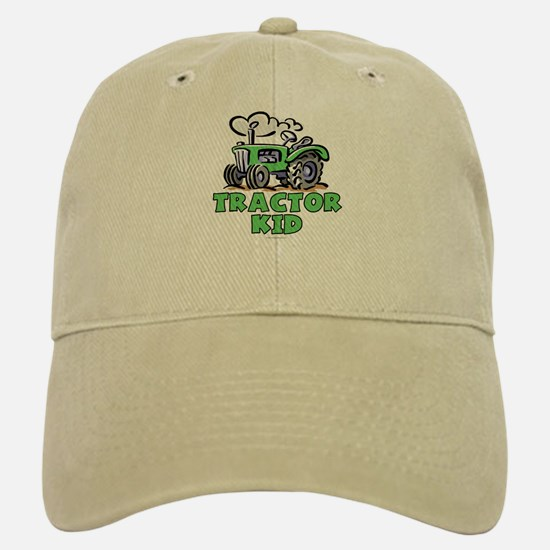Green Tractor Kid Cap