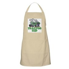 Green Tractor Kid Apron