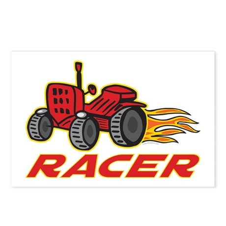 Tractor Racing Postcards (Package of 8)