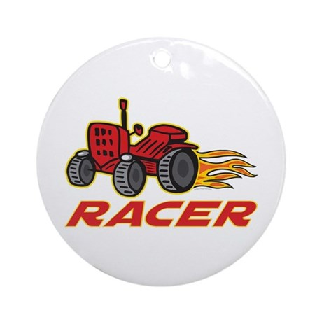 Tractor Racing Ornament (Round)