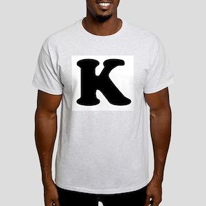 Large Letter K Ash Grey T-Shirt
