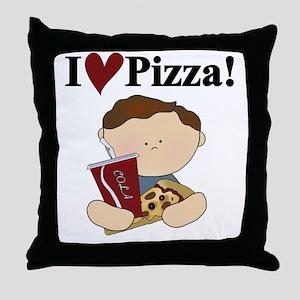 Boy I Love Pizza Throw Pillow