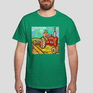 Van Gogh Tractor Dark T-Shirt
