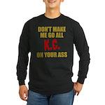 Kansas City Football Long Sleeve Dark T-Shirt