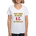 Kansas City Football Women's V-Neck T-Shirt