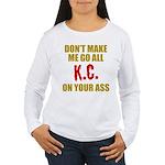 Kansas City Football Women's Long Sleeve T-Shirt