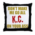 Kansas City Football Throw Pillow