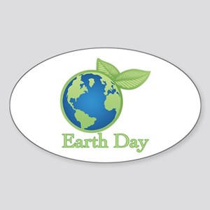 Earth Day Alive Oval Sticker