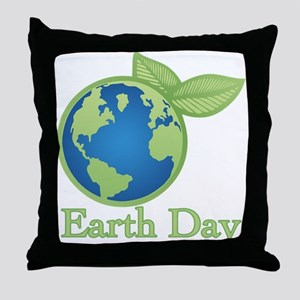 Earth Day Alive Throw Pillow