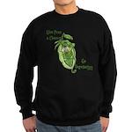Give Peas a Chance Sweatshirt (dark)