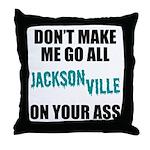 Jacksonville Football Throw Pillow