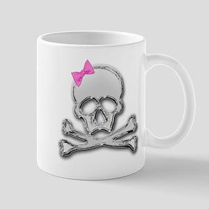 Chrome skull with bow 2 Mug