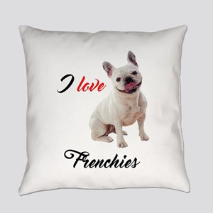 I Love French Bulldogs Everyday Pillow