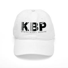 Kiev Airport Code KBP Ukraine Baseball Cap