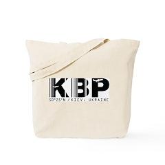 Kiev Airport Code Ukraine KBP Tote Bag