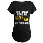 Green Bay Football Maternity Dark T-Shirt