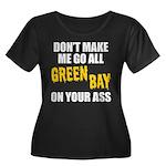 Green Bay Football Women's Plus Size Scoop Neck Da