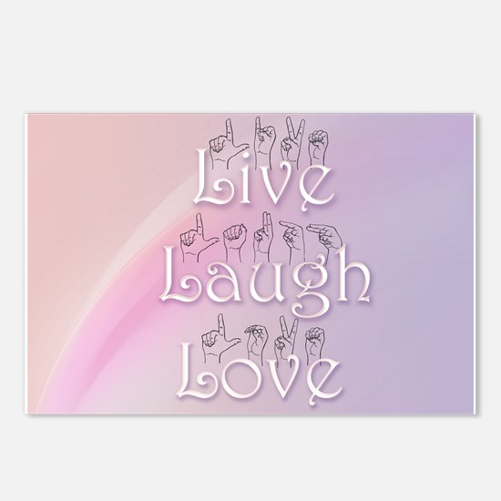 Live, Laugh, and Love Postcards (Package of 8)