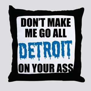 Detroit Football Throw Pillow