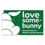 New Mexico Rectangle Sticker 50 pk)