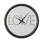 Daisy Love Large Wall Clock