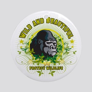 Wild Gorilla Ornament (Round)