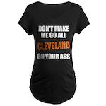 Cleveland Football Maternity Dark T-Shirt