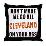 Cleveland Football Throw Pillow