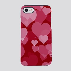 Red Valentine Hearts iPhone 7 Tough Case
