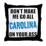 Carolina Football Throw Pillow