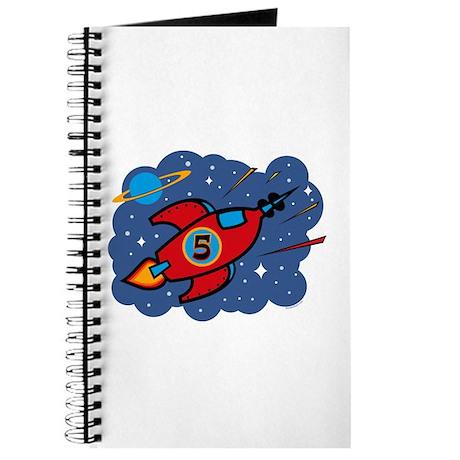 Rocket Ship 5th Birthday Journal