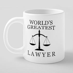 World's Greatest Lawyer Bre 20 oz Ceramic Mega Mug